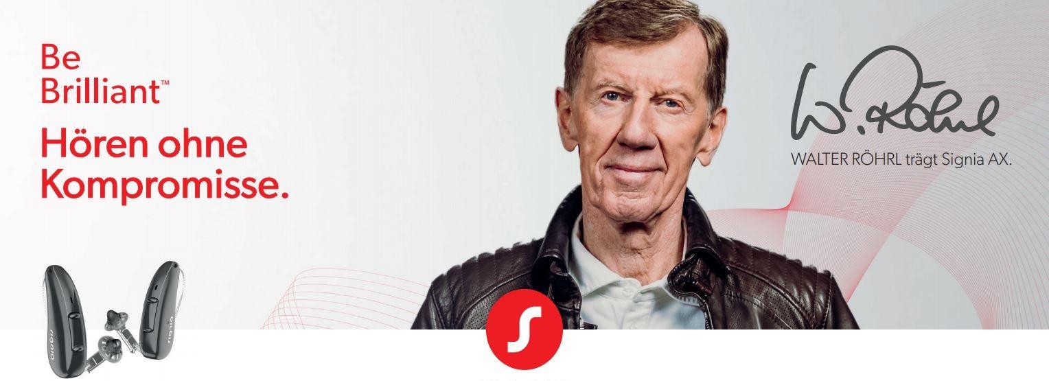 Walter Röhrl trägt Signia AX